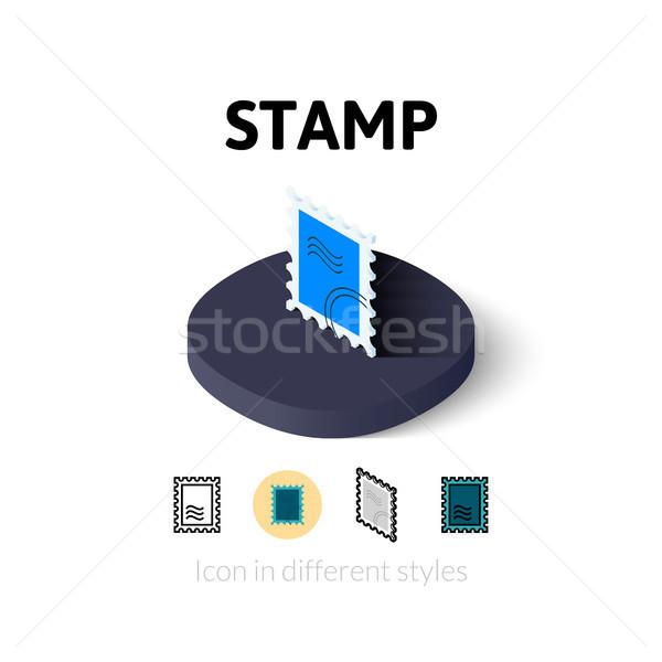 штампа икона различный стиль вектора символ Сток-фото © sidmay