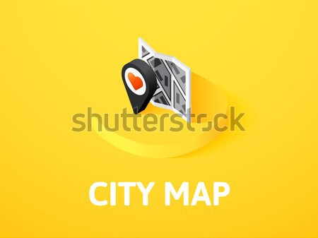 City map icon in different style Stock photo © sidmay