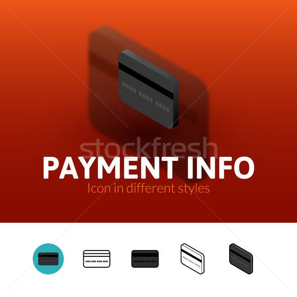 Pago información icono diferente estilo color Foto stock © sidmay