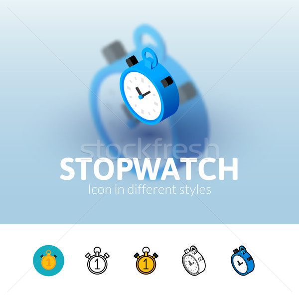 Stopwatch icon in different style Stock photo © sidmay