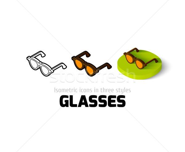 óculos ícone diferente estilo vetor símbolo Foto stock © sidmay