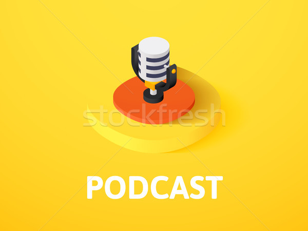 Podcast isometric icon, isolated on color background Stock photo © sidmay