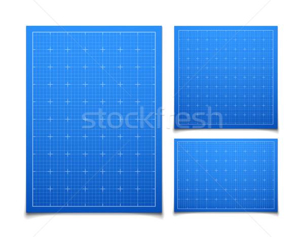 青 孤立した 広場 グリッド セット 影 ストックフォト © sidmay