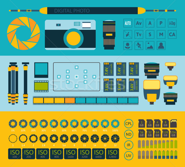 Photo infographics set, part one Stock photo © sidmay