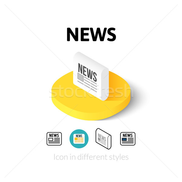 Stock photo: News icon in different style