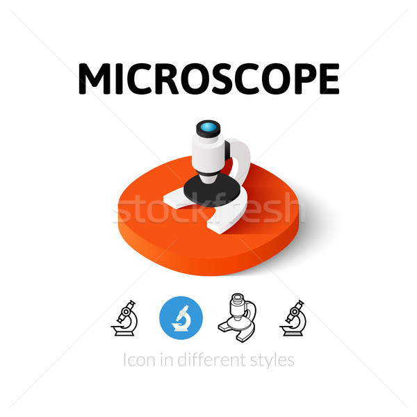 Microscope icon in different style Stock photo © sidmay