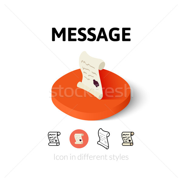 Message icon in different style Stock photo © sidmay