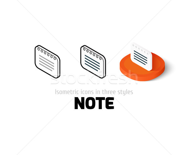 Nota ícone diferente estilo vetor símbolo Foto stock © sidmay