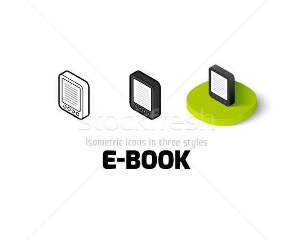 E-Book icon in different style Stock photo © sidmay