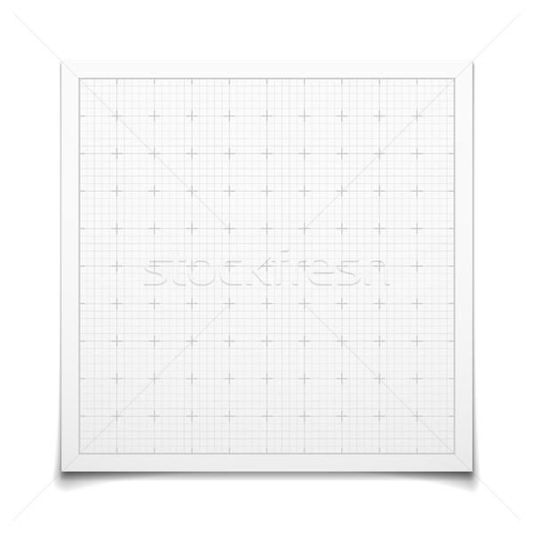 White isolated square grid with shadow Stock photo © sidmay