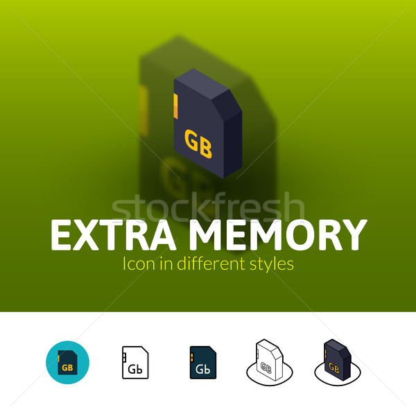 Extra memory icon in different style Stock photo © sidmay