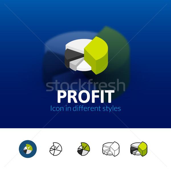 Beneficio icono diferente estilo color vector Foto stock © sidmay
