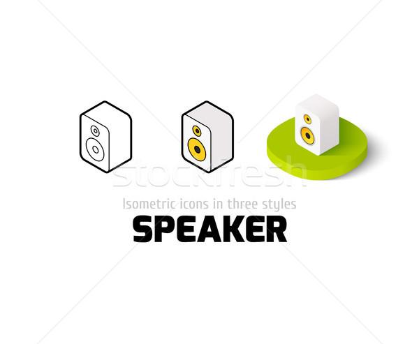 Alto-falante ícone diferente estilo vetor símbolo Foto stock © sidmay