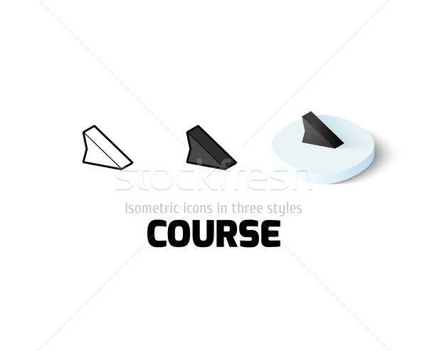 Course icon in different style Stock photo © sidmay