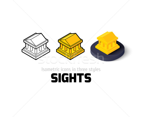 Sights icon in different style Stock photo © sidmay
