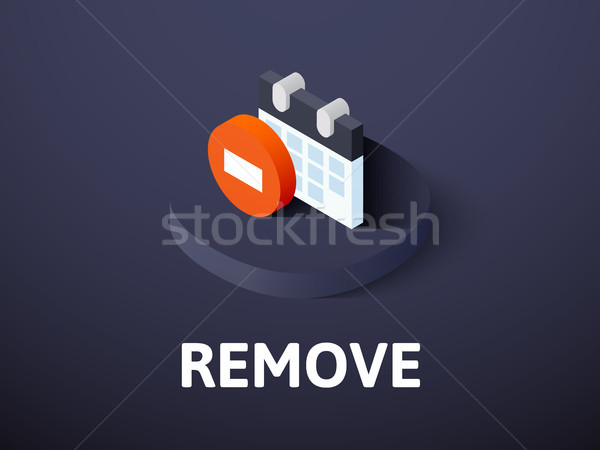 Remove isometric icon, isolated on color background Stock photo © sidmay