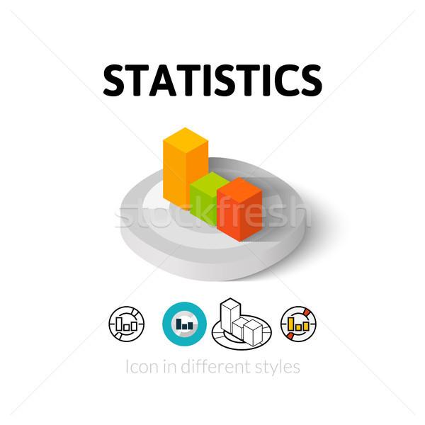 Estadística icono diferente estilo vector símbolo Foto stock © sidmay