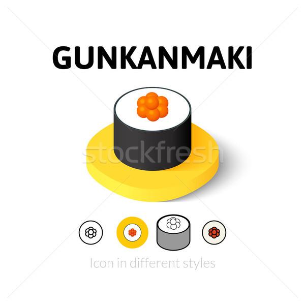 Stock photo: Gunkanmaki icon in different style