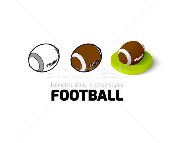 Stock photo: Football icon in different style