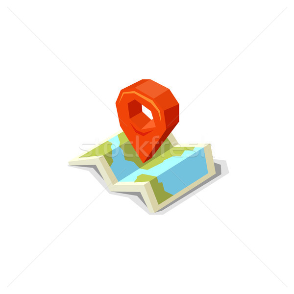 World map with pin pointer marker Stock photo © sidmay