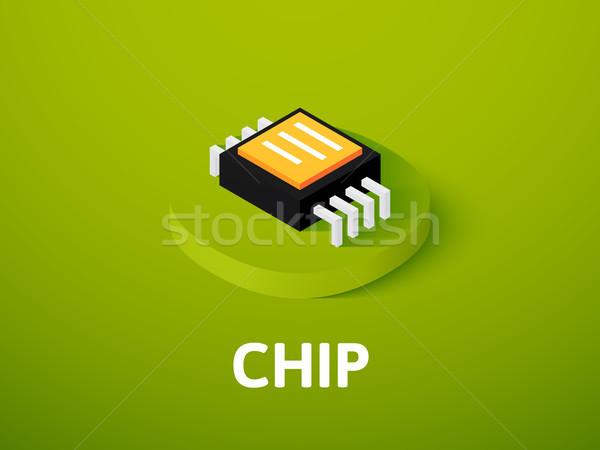 Chip isometrica icona isolato colore vettore Foto d'archivio © sidmay