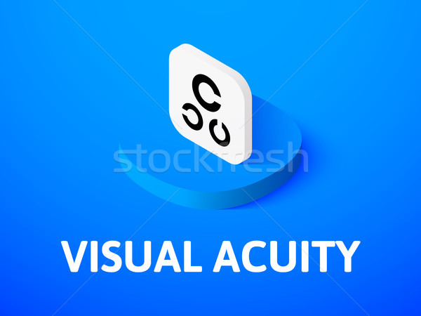 Visual acuity isometric icon, isolated on color background Stock photo © sidmay