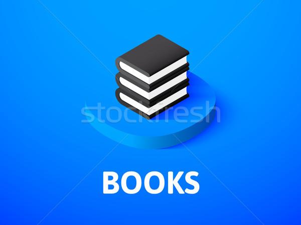 Libros icono aislado color vector Foto stock © sidmay