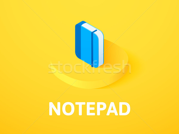 Notepad isometric icon, isolated on color background Stock photo © sidmay