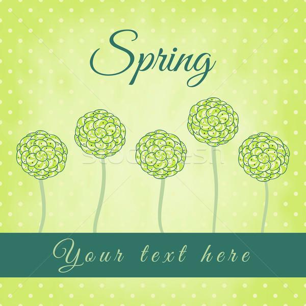 árbol verde espiral hojas primavera flor Foto stock © sidmay