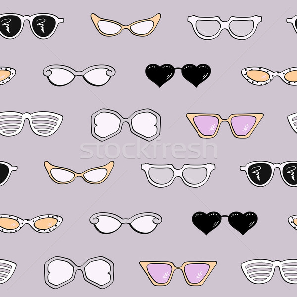 Stockfoto: Vrouwen · mode · zonnebril · geïsoleerd · vector