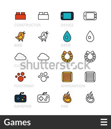 Flat icons set 4 Stock photo © sidmay
