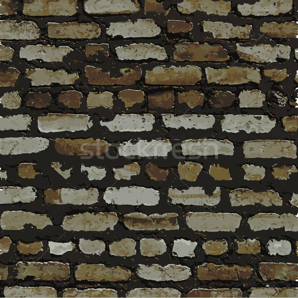 Brick wall, brown relief texture with shadow Stock photo © sidmay