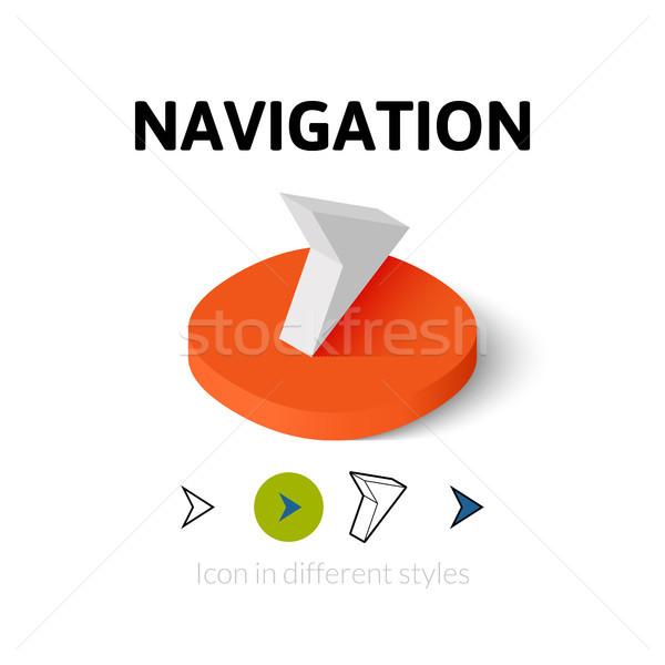 навигация икона различный стиль вектора символ Сток-фото © sidmay