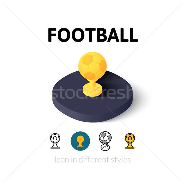 Futebol ícone diferente estilo vetor símbolo Foto stock © sidmay