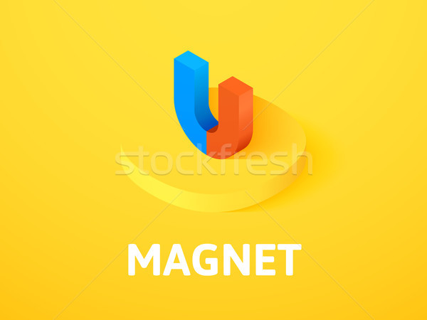 Magnet isometric icon, isolated on color background Stock photo © sidmay