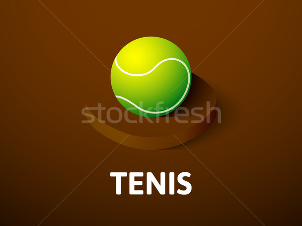 Tennis isometric icon, isolated on color background Stock photo © sidmay
