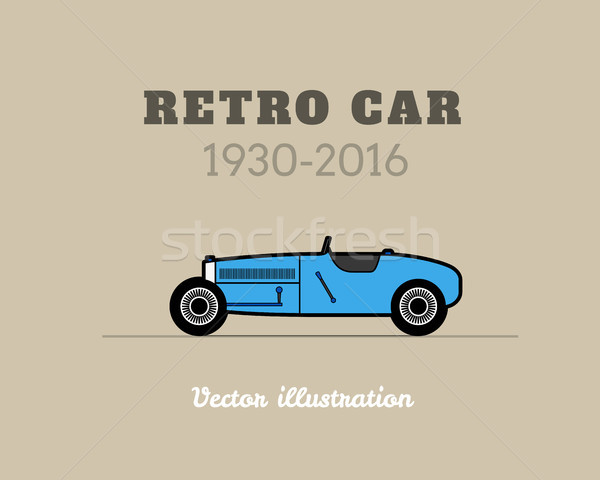 Retro sport racing auto vintage collectie Stockfoto © sidmay