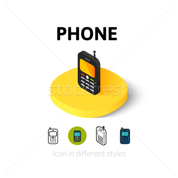 電話 アイコン 異なる スタイル ベクトル シンボル ストックフォト © sidmay