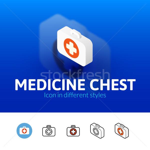медицина груди икона различный стиль цвета Сток-фото © sidmay