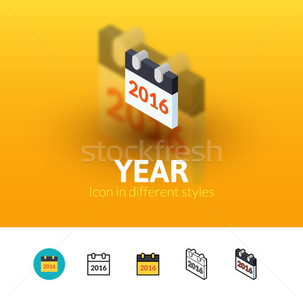 Year icon in different style Stock photo © sidmay