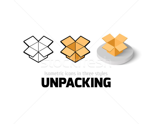 Unpacking icon in different style Stock photo © sidmay