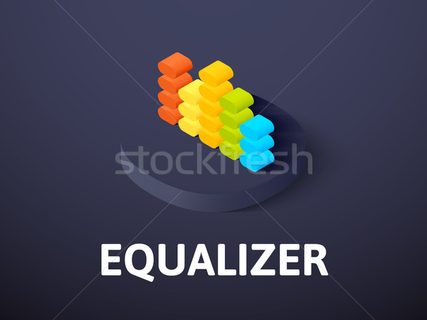 Equalizer isometric icon, isolated on color background Stock photo © sidmay