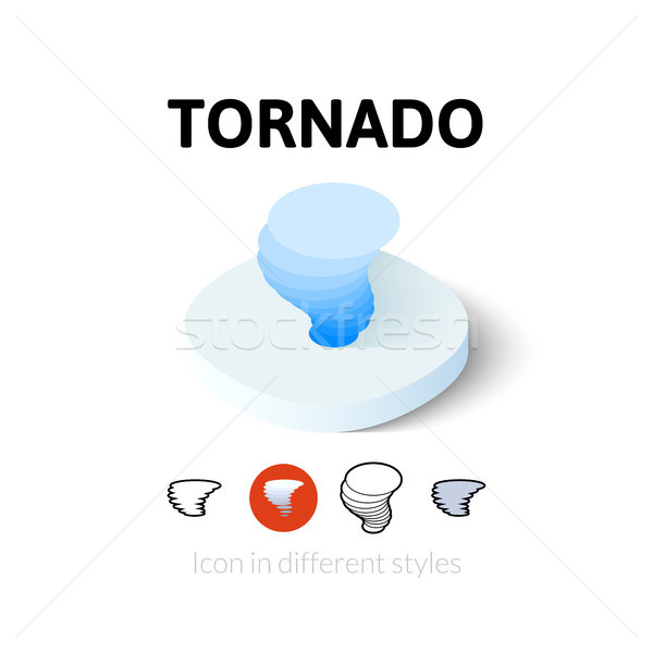 Tornado ícone diferente estilo vetor símbolo Foto stock © sidmay