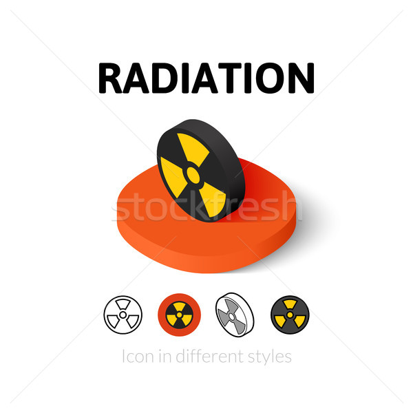 Sugárzás ikon különböző stílus vektor szimbólum Stock fotó © sidmay