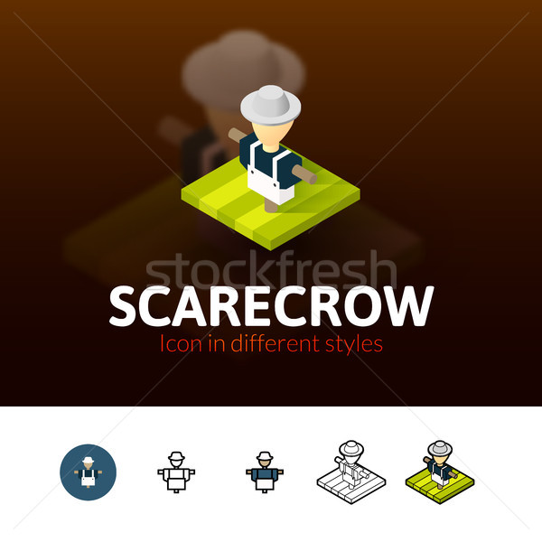 Scarecrow icon in different style Stock photo © sidmay