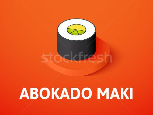 Maki isometrica icona isolato colore vettore Foto d'archivio © sidmay