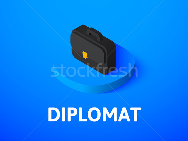 Diplomat isometric icon, isolated on color background Stock photo © sidmay