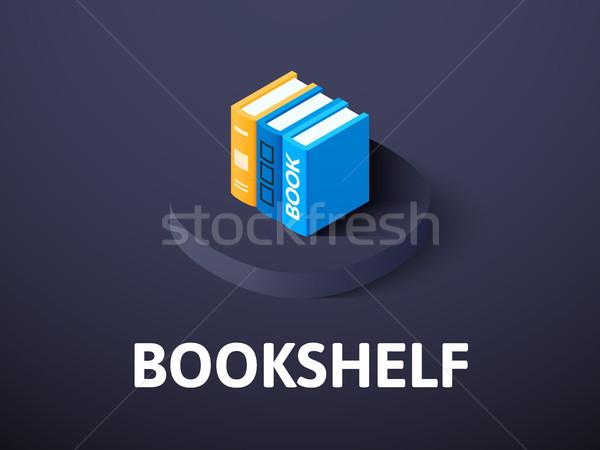 Boekenplank isometrische icon geïsoleerd kleur vector Stockfoto © sidmay