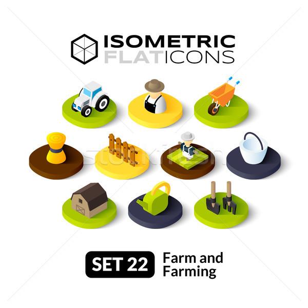 Isométrica 22 ícones 3D pictogramas Foto stock © sidmay