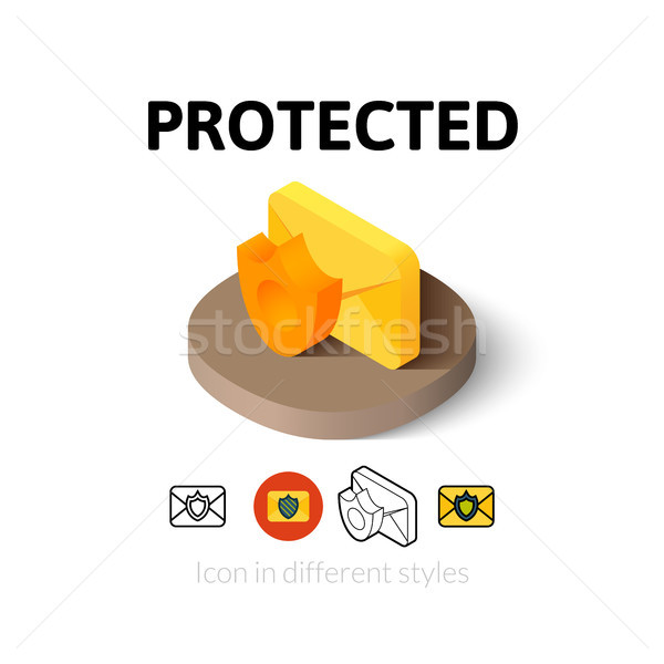Protected icon in different style Stock photo © sidmay